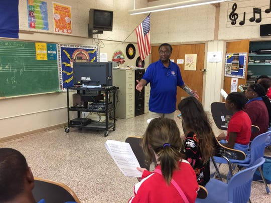 James L. Addison teaches choir at Alexandria Middle Magnet.