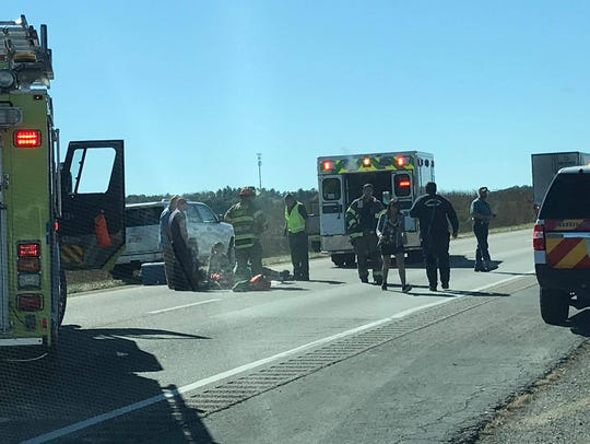 The scene of a fatal crash on Interstate 81 just outside