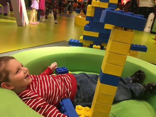 Connor Weston started attending school at Woodlands Developmental Center this fall, about a year and half after being injured in a traffic crash. He recently visited LEGOLAND in Auburn Hills with his family.
