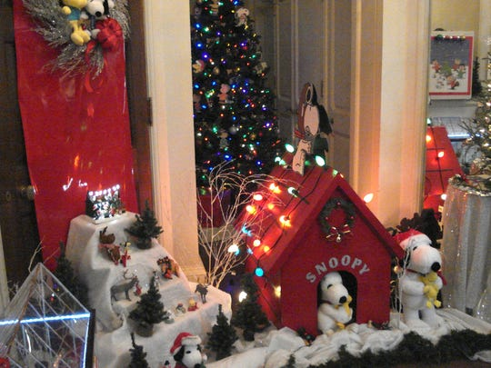 The Skylands Manor in the New Jersey Botanical Garden in Ringwood is decorated each fall for a holiday weekend when the public is permitted to self-tour for a small fee. Snoopy stars in this room on Nov. 30, 2017.