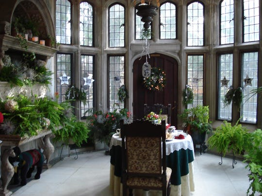 The Skylands Manor in the New Jersey Botanical Garden in Ringwood is decorated each fall for a holiday weekend when the public is invited to tour decorated rooms, such as the breakfast room as seen on Nov. 30, 2017.