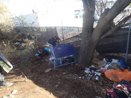 The Redding Police Department, with the help of other government agencies in Shasta County, cleaned up more than 3,000 pounds of trash Thursday.