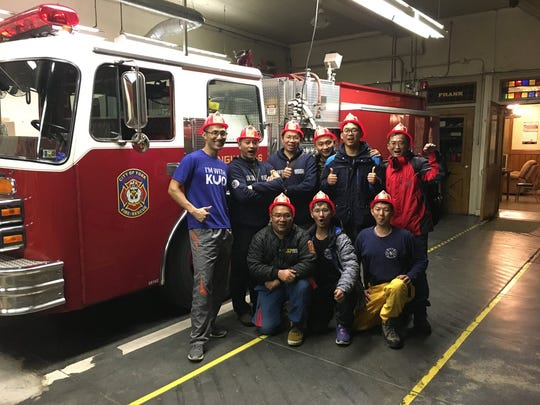 Eight firefighters from Taiwan visit the York City fire department after training at the HACC fire academy in Harrisburg from Saturday, Dec. 2 to Wednesday, Dec. 6.  (Photo c/o the York City fire department)