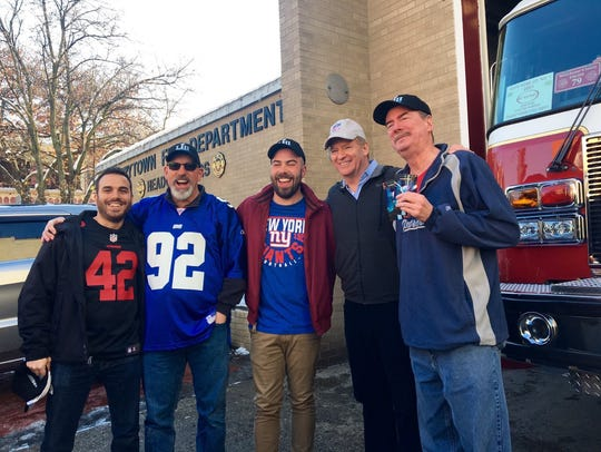 Bill Duggan, far right, was surprised with tickets to the Super Bowl on Sunday, Dec. 10, 2017. To Duggan's right is NFL Commissioner Roger Goodell. Pictured from left to right are Robert Racanelli, Dave Chillemi, Mike Chillemi, Roger Goodell and Bill Duggan.