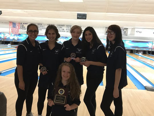 Wayne Valley's girls bowling team took first in the