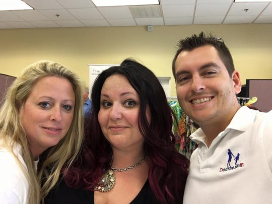Founders Colleen Christie del Valle and Melissa McInturff with Parenting Blogger Chad Miller (Dad the Mom)