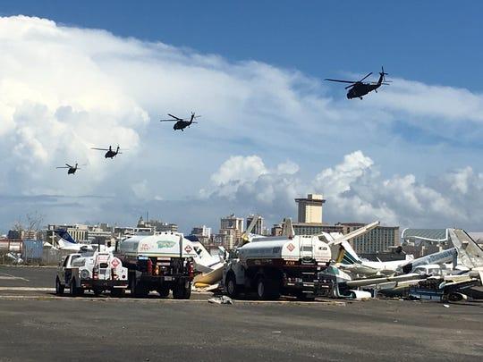 SAN JUAN, Puerto Rico – Four HH-60 medevac Blackhawk