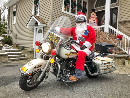 Wanaque Police Lt. Charlie Huber donned a Santa Claus