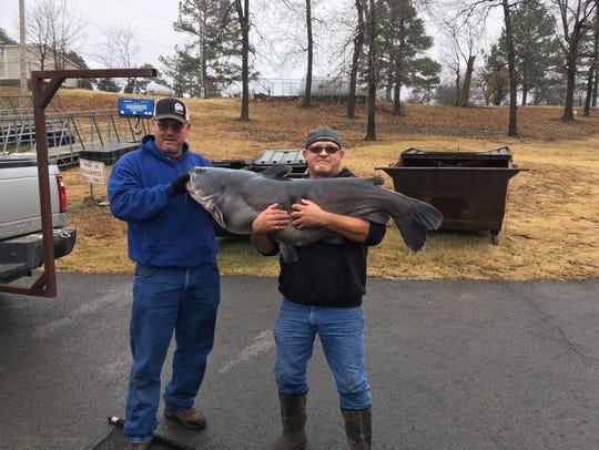 An Oklahoma angler named Bernie McBryde caught a, 82-pound