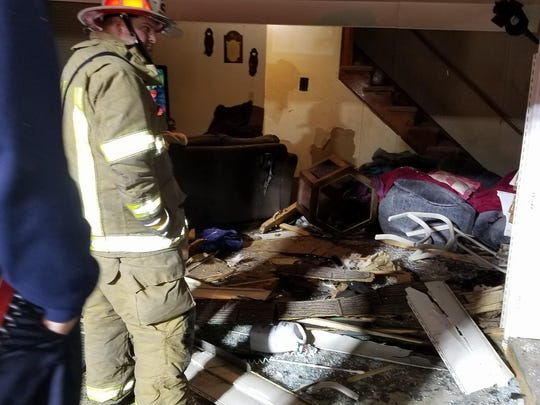 Pennsylvania State Police responded to a call at about 4:51 p.m. on Dec. 18 in which a truck rolled down a hill into a home on Gap Road in Quincy Township.