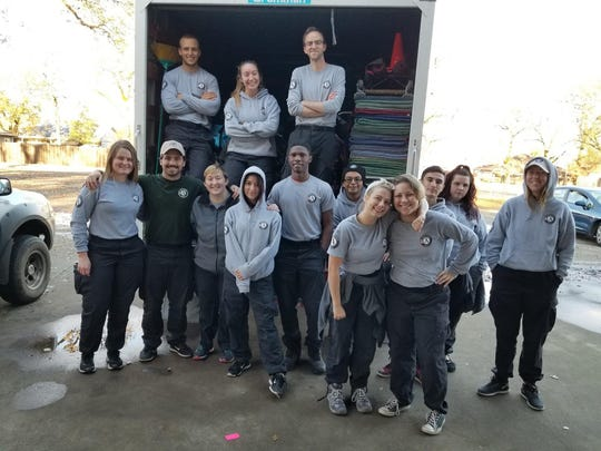 The AmeriCorps' National Civilian Community Corps (NCCC) team Delaney Voorheis, 21, of Ogden and Scott, Meyers, 22, of LeRoy are on recently spent several weeks in northern California helping rebuild homes lost from the 2015 wildfires.