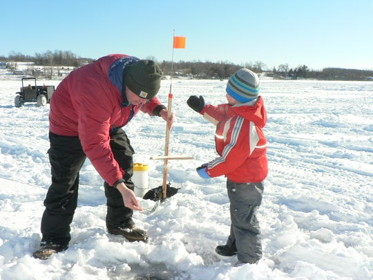 Vermont Fish & Wildlife says cold weather in December 2017 has created good ice fishing conditions on many lakes but that safety precautions are still very important.  Check the ice fishing section of their website for more information.