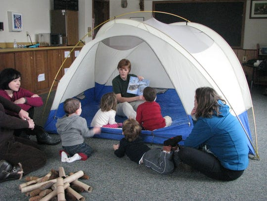 A Story Hour for ages infant to 5 with a parent will