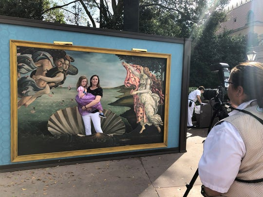 Don't just look at art, become art with a Master Piece Photo Op..