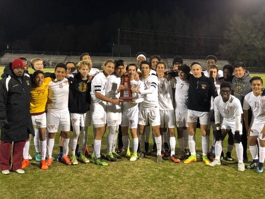 The Florida High boys soccer team captured its second