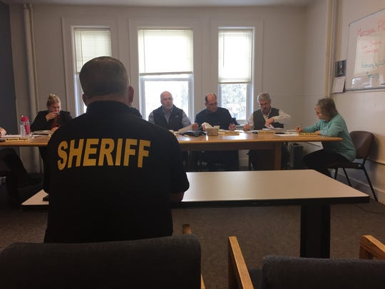 Cascade County Sheriff Bob Edwards appears before the Montana Public Safety Officer Standards and Training Council