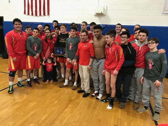 The Bergen Catholic wrestling team captured its seventh