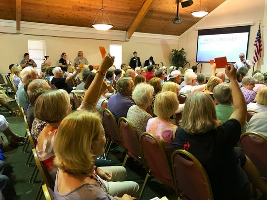Florida congressman Francis Rooney hosted a town hall