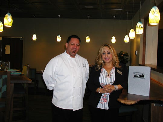 Kenny Chalabian is chef at Café California, and Vanessa Collins is director of food and beverage.