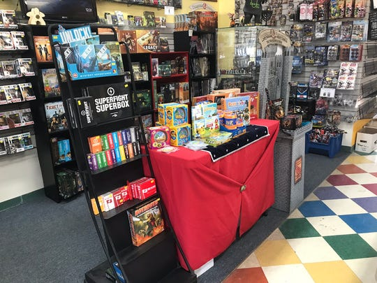 A games display at Dragon's Den in Wappinger.