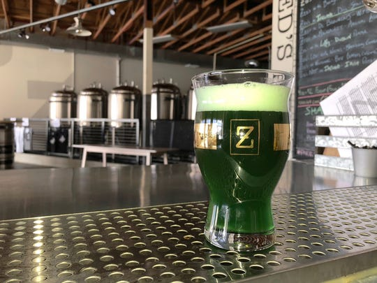 Zed's Beer in Marlton is not afraid to add a little color to the festivities for St. Patrick's Day, although much of the color comes from Spirulina, not food coloring.