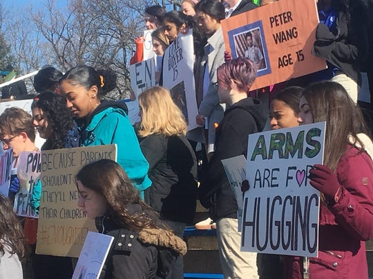 "Students at CAB, CSW stand for first 30-second silent period for first Florida victim, ""arms are for hugging"""