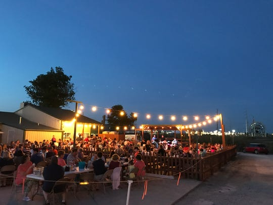 The Hawg N Sauce patio is a hoppin' place to be in summer. Twenty-two events are already scheduled for this summer.