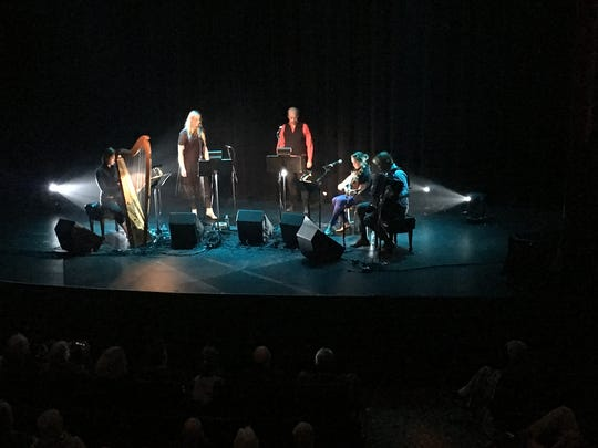 "From left are Giovanna Pessi, Susanna, Bonnie ""Prince"" Billy, Cheyenne Mize, and Frode Haltli."