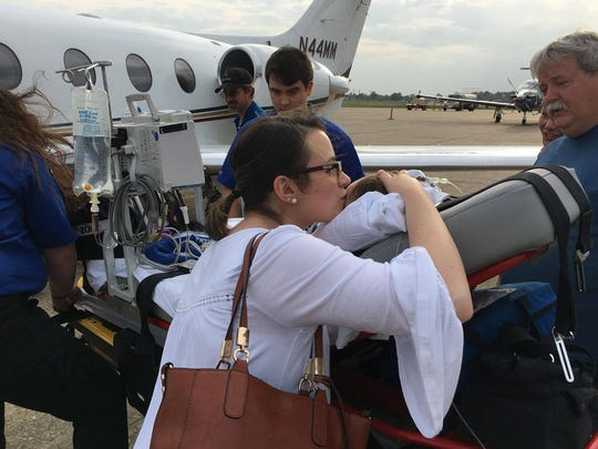 St. Jude Children's Research Hospital airlifted 10-month-old