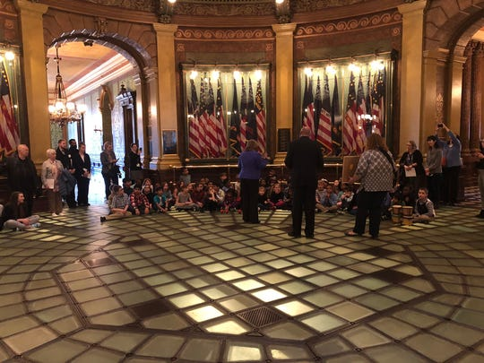 Longacre Elementary School second graders performed recently at the state capitol.