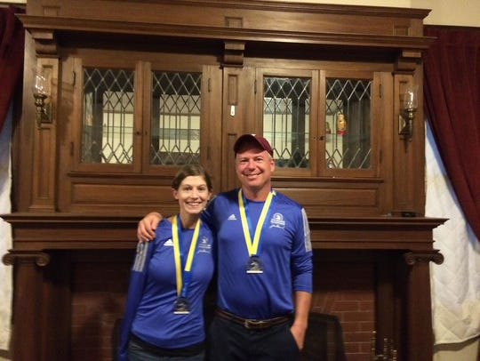 Laura and Jack McDermott with their medals following