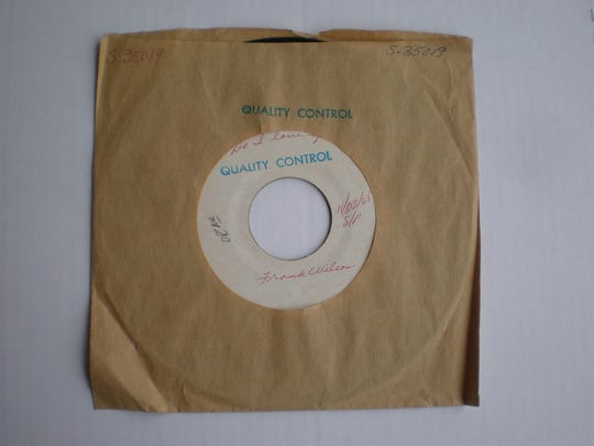 A test-pressing of an extremely rare 1965 single by Motown producer-songwriter Frank Wilson.