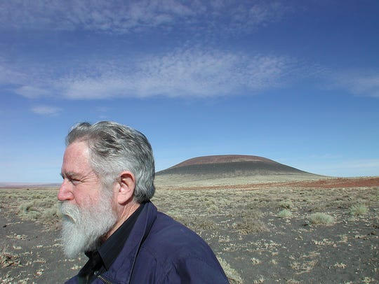 James Turrell outside Roden Crater in 2002.