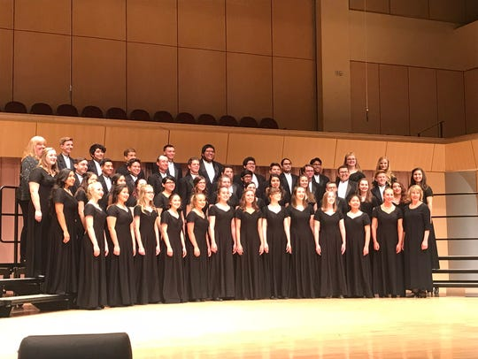 Piedra Vista High School's PVC Pipes concert choir is featured after a performance at the New Mexico Activities Association state choir competition April 13-14 in Rio Rancho.