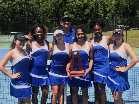 Rickards' girls tennis team won a District 2-2A title.