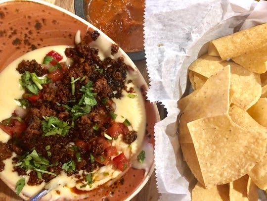 Queso blanco fundido with chorizo at ZAZA Kitchen on