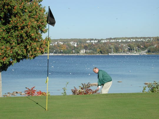 One of the views from the Alpine Resort golf course in Egg Harbor.