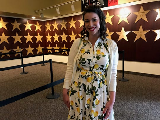 Leah Ciotoli, 26, of Binghamton sported a 1950s look