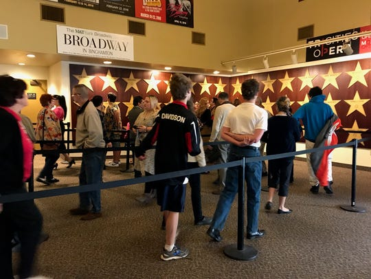 Auditioners filled the lobby of the Broome County Forum