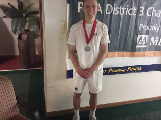 Cedar Crest's Jack Muraika, the Lancaster-Lebanon League 3A singles champ and District 3 runner-up, was eliminated in the first round of the state tournament on Friday.