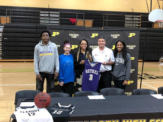 Peabody's Stacie Mayberry signs with Bethel.