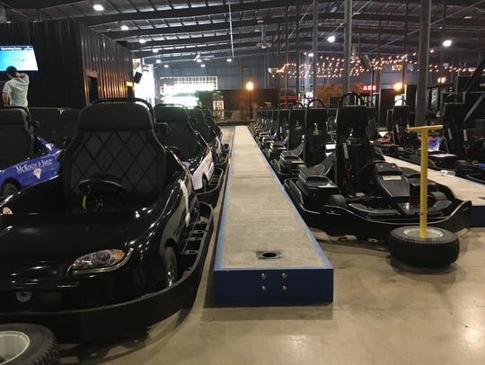 Feel the need for speed? Go-karts are lined up and