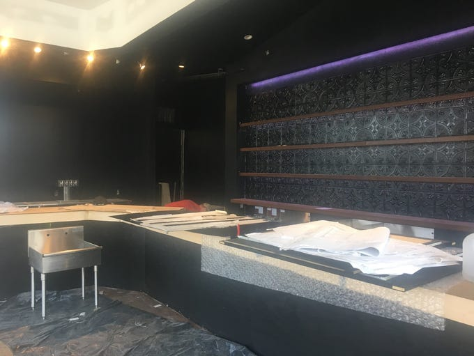 A new third floor brandy bar is under construction