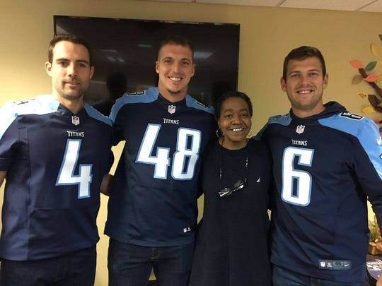 Hattie Berry got to meet some players from the Tennessee