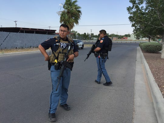 El Paso police on Sunday search for a suspect in the fatal shooting of a woman earlier that day on the West Side. Police said she was shot in the 5400 block of Ridge Street.