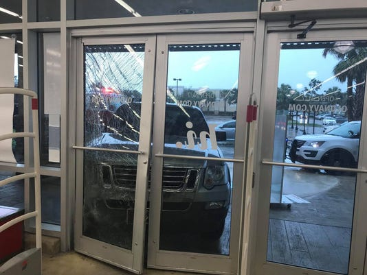 Port St. Lucie police said a 64-year-old man accidentally crashed into an Old Navy.