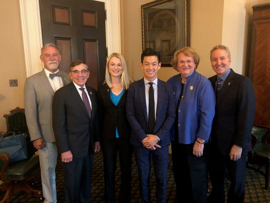 Palm Springs' City Council appears with Assemblymember