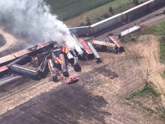 A train derailment in Princeton Sunday night closed