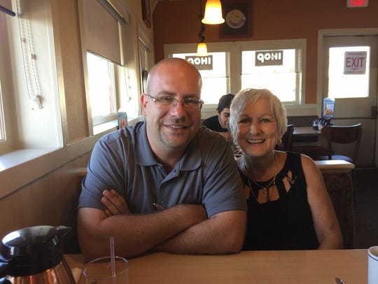"""Eric Zink with his mother Elaine. """"I'm just really"""