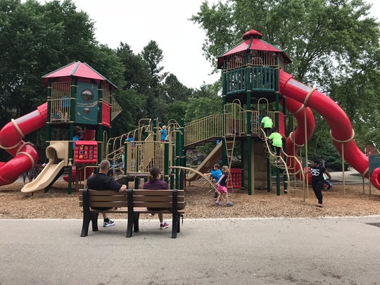 The playground is a necessary stop on a family trip